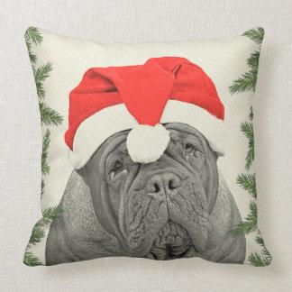 Dogue de Bordeaux Vintage Style Christmas Cushions