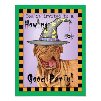 Dogue de Bordeaux Witch 11 Cm X 14 Cm Invitation Card