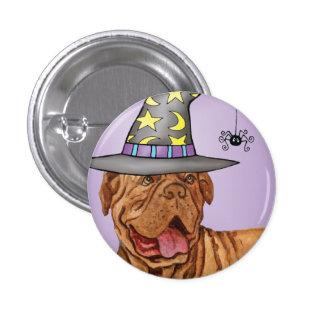 Dogue de Bordeaux Witch Pinback Button