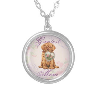 Dogue Heart Mom Silver Plated Necklace