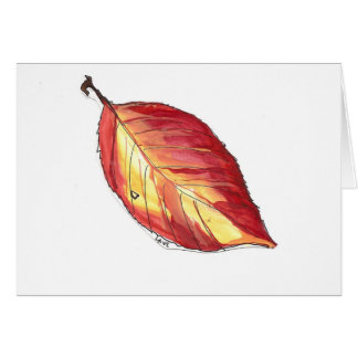 dogwood autumn leaf greeting card