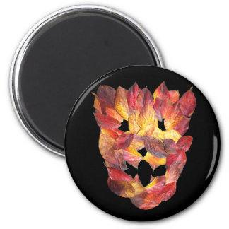 Dogwood Autumn Leaves Leaf Mask Fridge Magnet