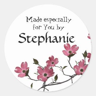 dogwood Blossom Round Sticker