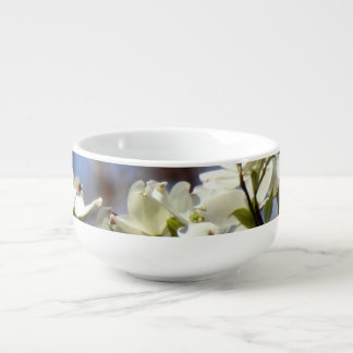 Dogwood Blossom Soup Bowl with handle