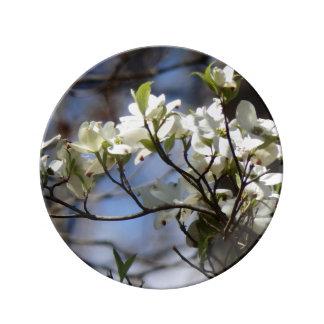 Dogwood Blossoms Decorative Dinner Plate
