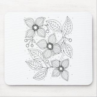 Dogwood Branch Line Art Design Mouse Pad