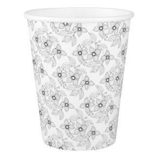 Dogwood Branch Line Art Design Paper Cup