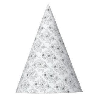 Dogwood Branch Line Art Design Party Hat