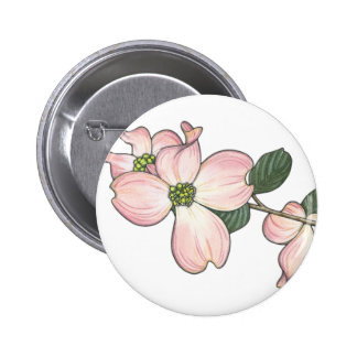 Dogwood Flower Pinback Button