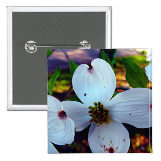 Dogwood Flower Pinback Buttons