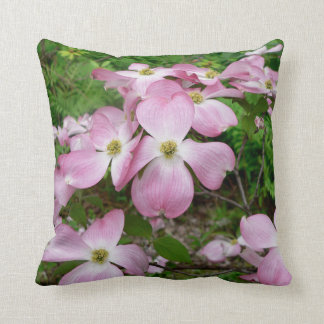 "Dogwood Flower Blooms Pillow 16"" x 16"""