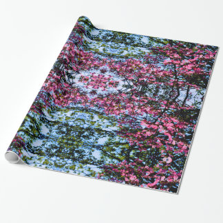 Dogwood flowering pink spring tree wrapping paper