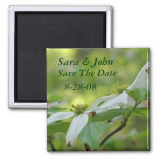 Dogwood Flowers Save The Date Wedding Magnet