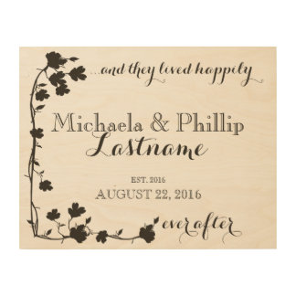 Dogwood Happily Ever After Couple Wood Print