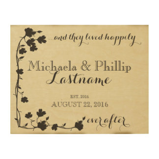Dogwood Happily Ever After Couple Wood Canvases