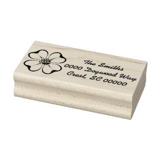 Dogwood Label Rubber Stamp