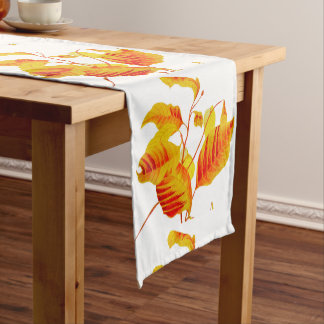 Dogwood Leaves on a Table Runner