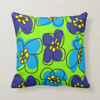 Dogwood Mod Reversible Pillow in Blue and Green