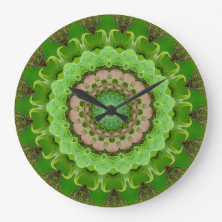 Dogwood Peace Mandala Large Clock