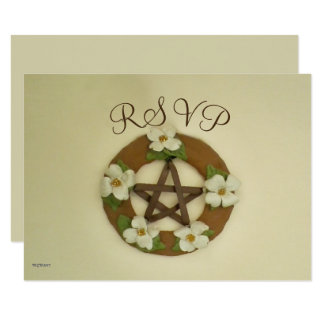 Dogwood Pentacle Handfasting Card