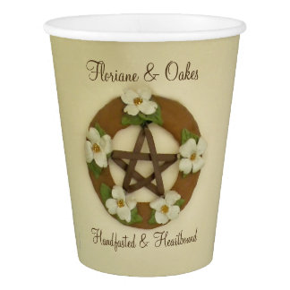 Dogwood Pentacle Handfasting Paper Cup