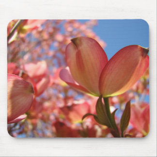 DOGWOOD PINK FLOWERS MOUSE PADS MOUSEPAD