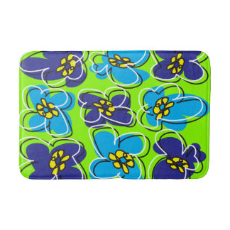 Dogwood Retro Mod Bathmat in Green/White