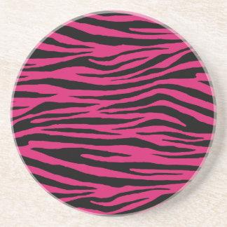 Dogwood Rose Tiger Beverage Coasters