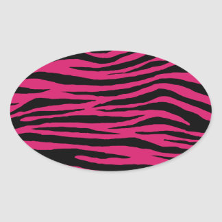 Dogwood Rose Tiger Oval Sticker