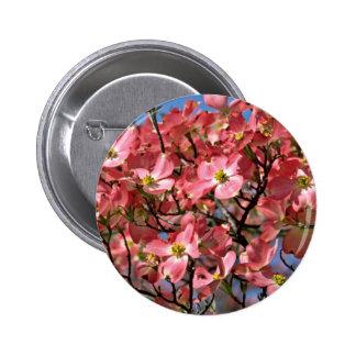 Dogwood tree Pink flowers Pinback Button