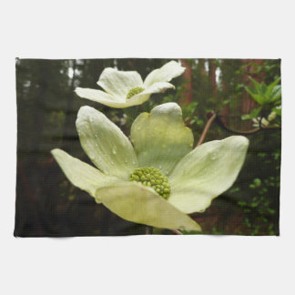 Dogwoods and Redwoods in Yosemite National Park Tea Towel