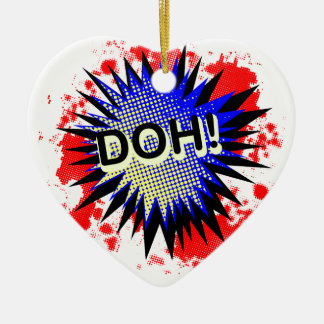 Doh Comic Exclamation Ceramic Ornament