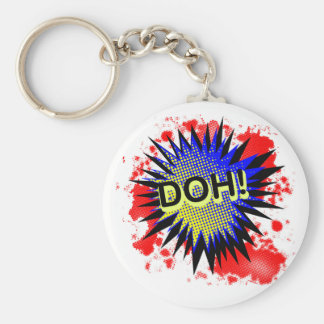 Doh Comic Exclamation Key Ring