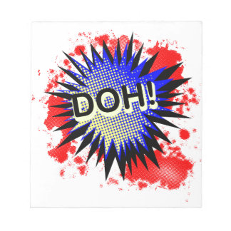 Doh Comic Exclamation Notepad