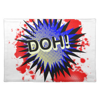 Doh Comic Exclamation Placemat