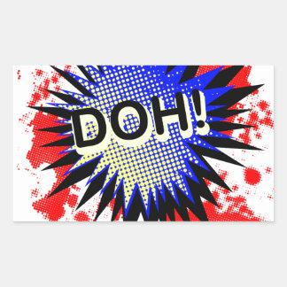 Doh Comic Exclamation Rectangular Sticker