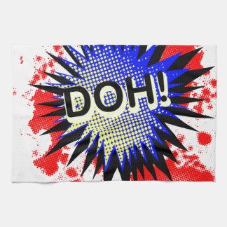 Doh Comic Exclamation Tea Towel