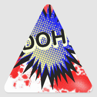 Doh Comic Exclamation Triangle Sticker