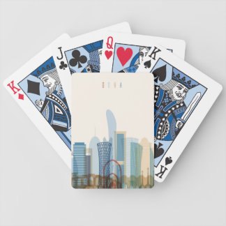 Doha, Qatar | City Skyline Bicycle Playing Cards