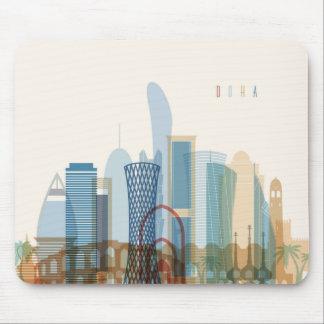 Doha, Qatar   City Skyline Mouse Pad