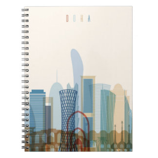 Doha, Qatar | City Skyline Notebook