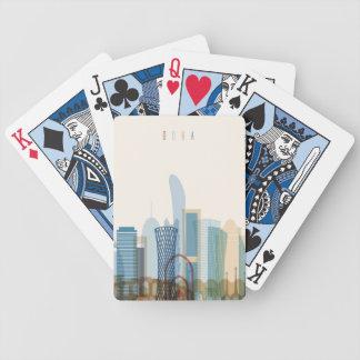 Doha, Qatar   City Skyline Poker Deck