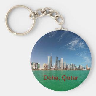 Doha Skyline, 2011 Basic Round Button Key Ring