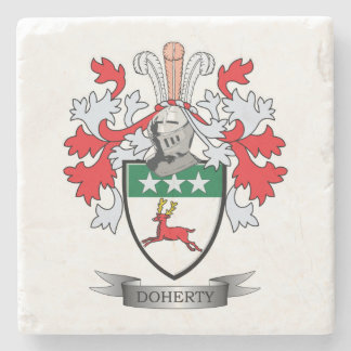 Doherty Coat of Arms Stone Coaster