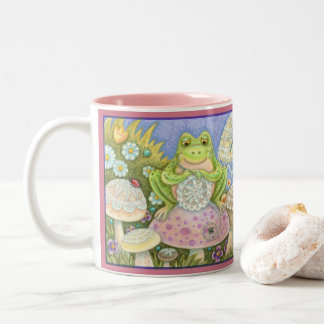Doilies Make A Hoppy Home FROG MUG *Pink
