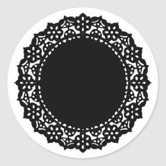 doily, doiley, doilie, doyly, doyley round sticker