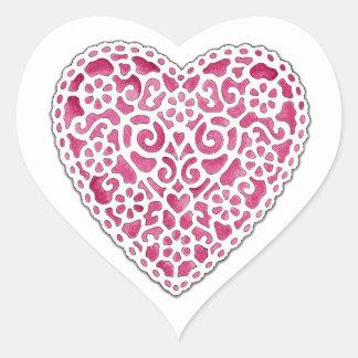 Doily Heart Heart Sticker