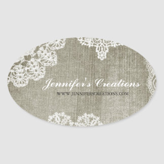 Doily Oval Sticker