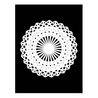 Doily White lace circle image Post Card