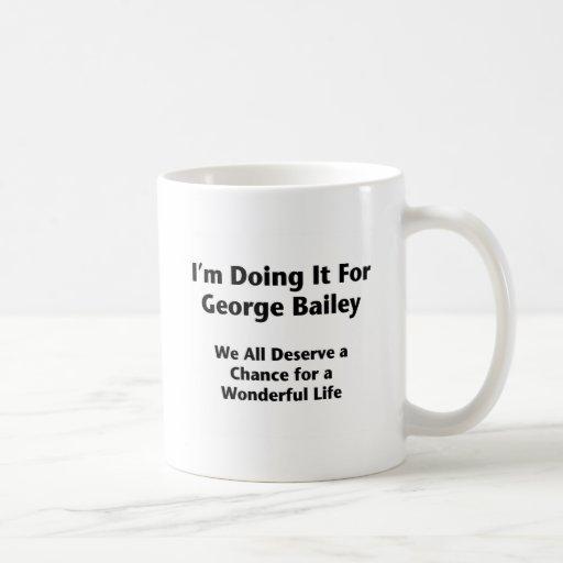 Doing It For George Bailey -- Occupy Wall Street Coffee Mug